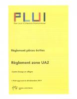 Règlement Zone UA2