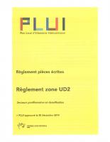 Règlement Zone UD2