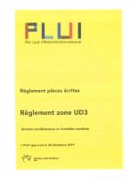9 – Règlement zone UD3